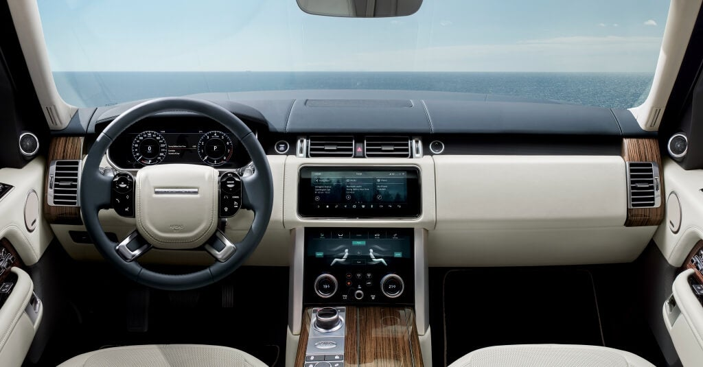 Interior del Range Rover.
