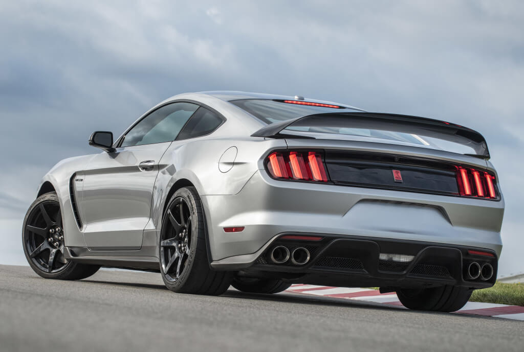Shelby Mustang GT350R: trasera.