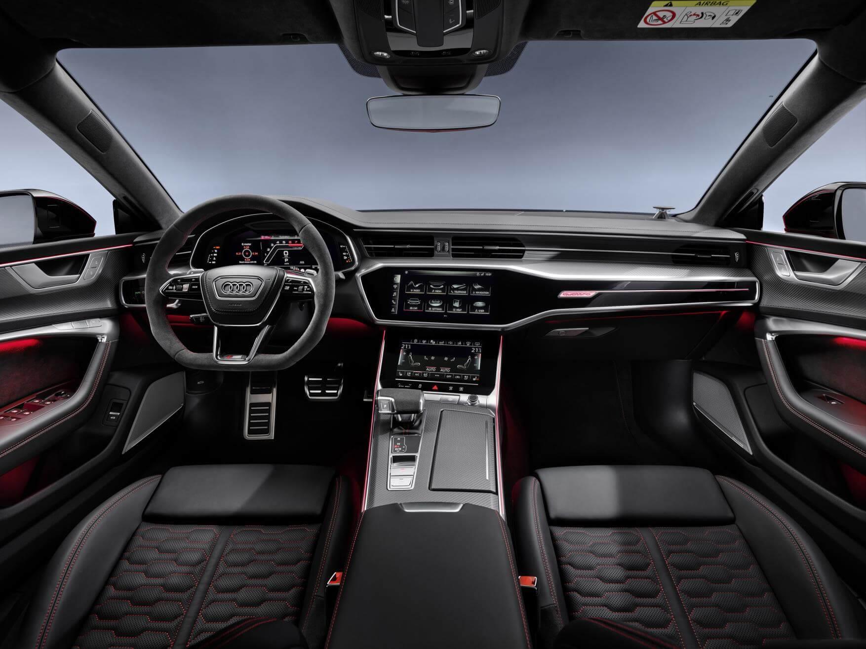 Interior del Audi RS7 Sportback