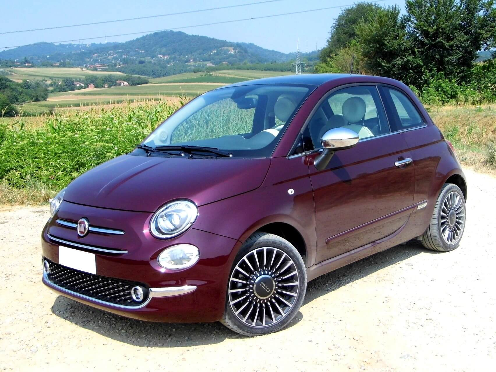 Fiat 500 Lounge: frontal.