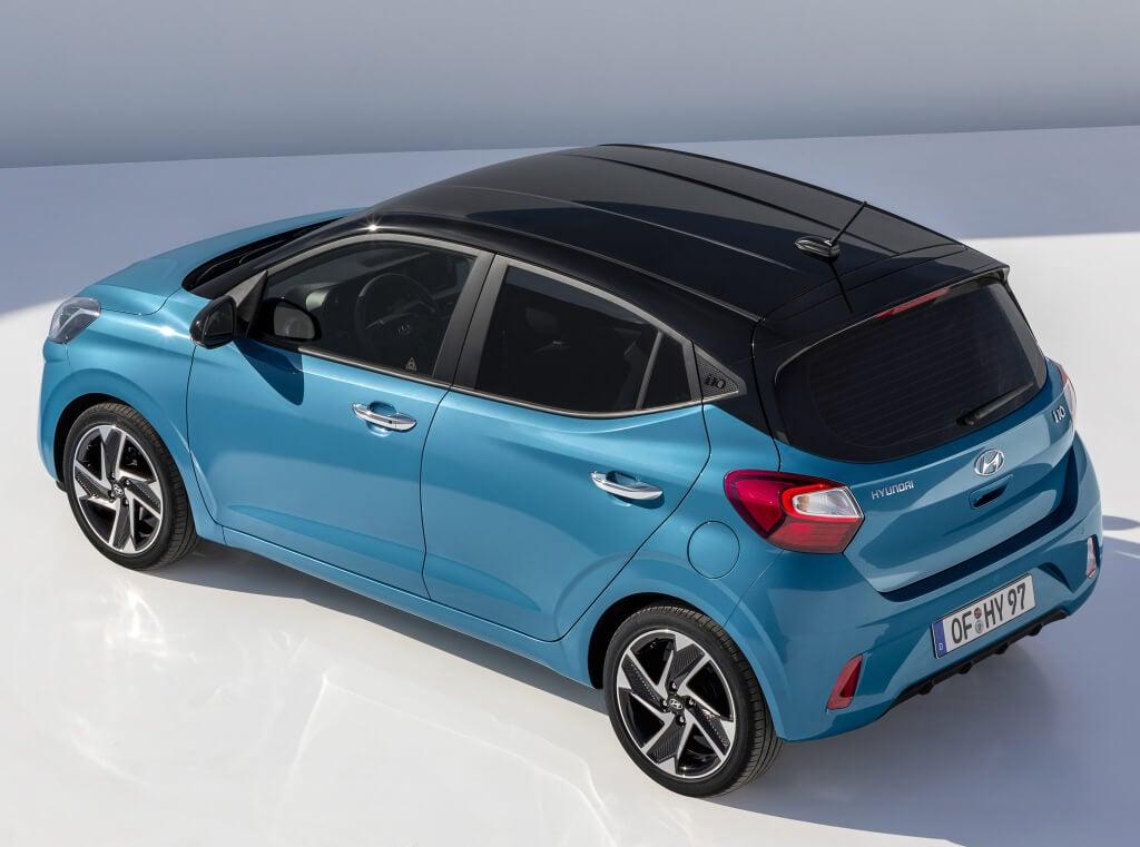 Hyundai i10 2020: trasera.