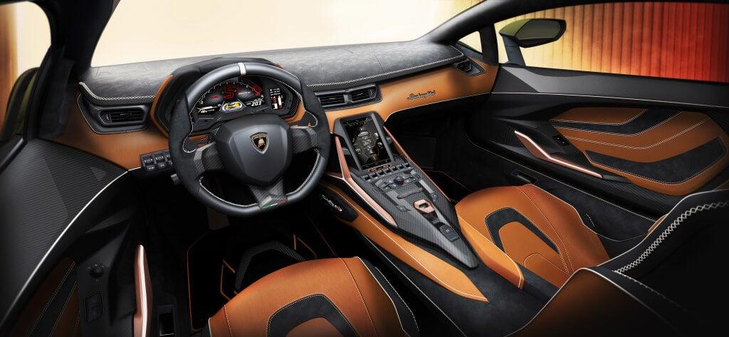 Lamborghini Sian: interior.