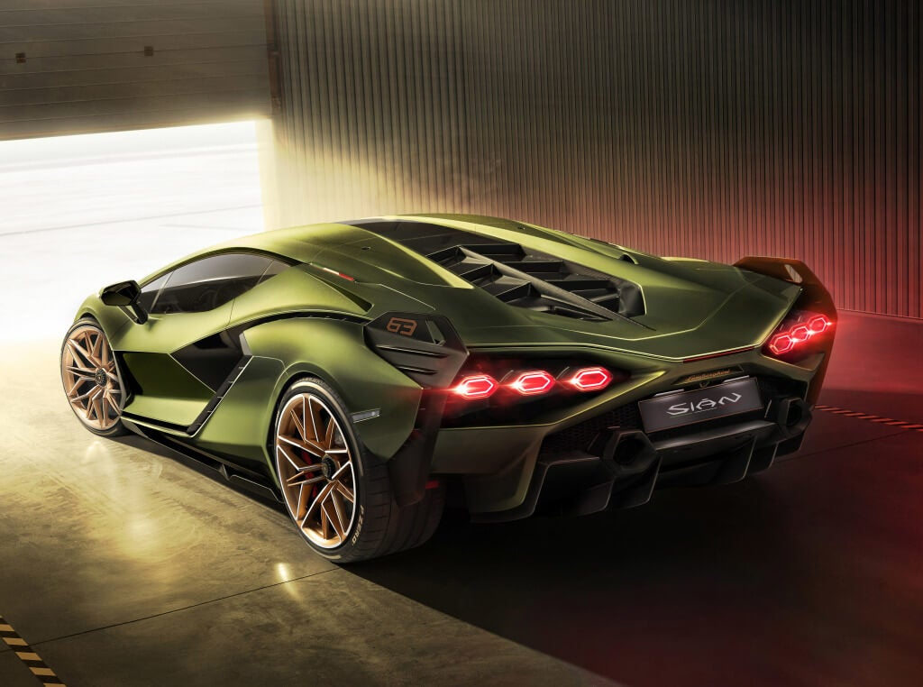 Lamborghini Sian: trasera.