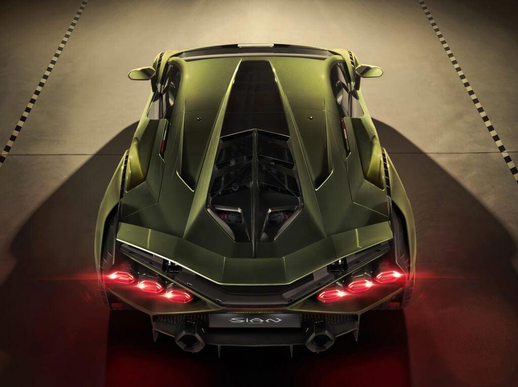 Lamborghini Sian: vista superior.