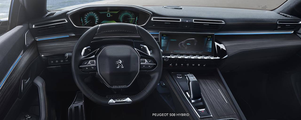 Interior del Peugeot 508 Hybrid