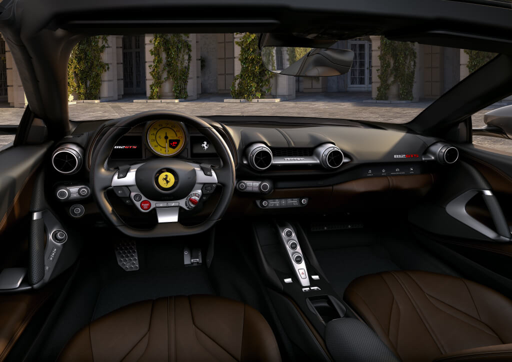 Interior del Ferrari 812 GTS.