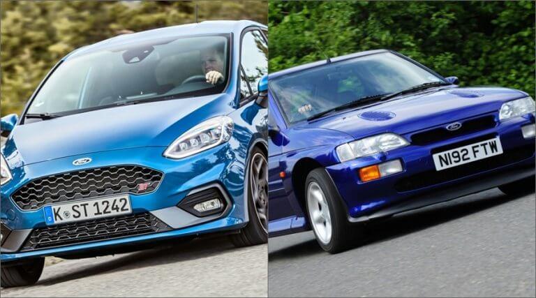 Ford Fiesta ST vs Ford Escort RS Cosworth: ¿pueden las viejas glorias mantener el ritmo?