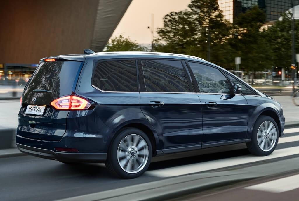 Ford Galaxy Vignale 2020: trasera.