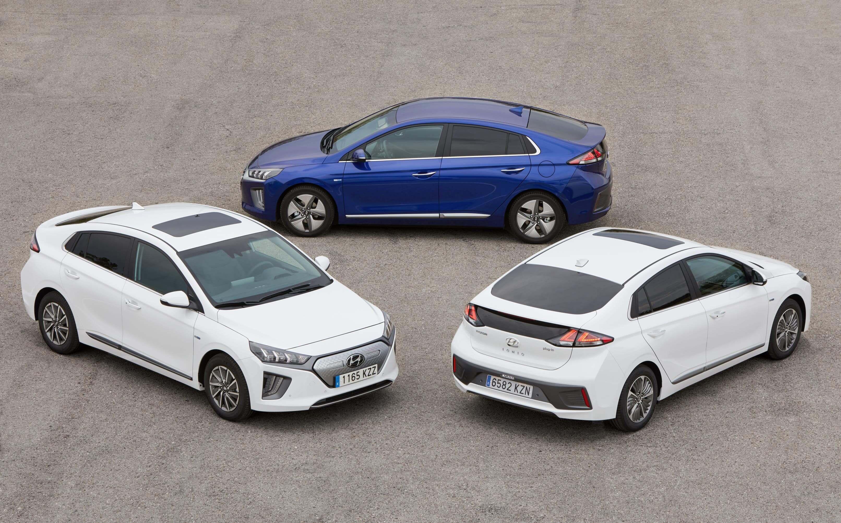 Frontal, trasera y lateral del Hyundai Ioniq Eléctrico