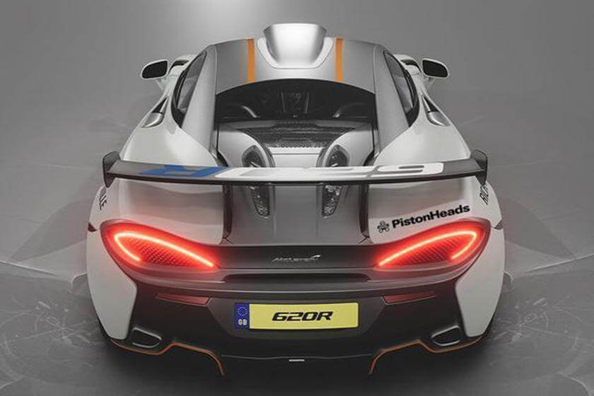 McLaren 620R, trasera.