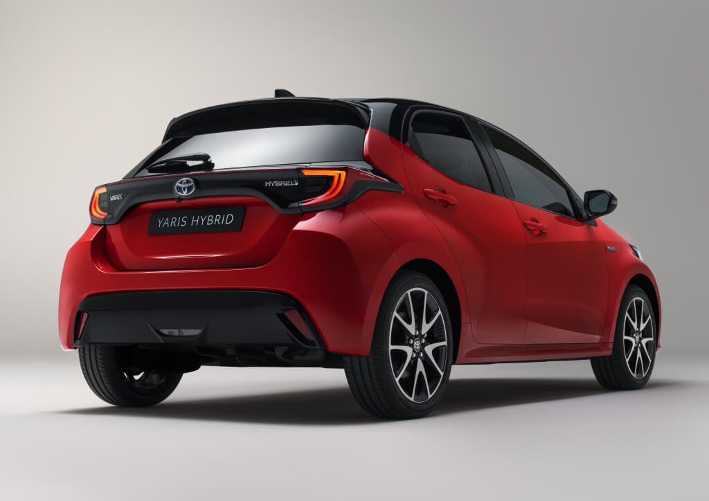 Toyota Yaris 2020: trasera.