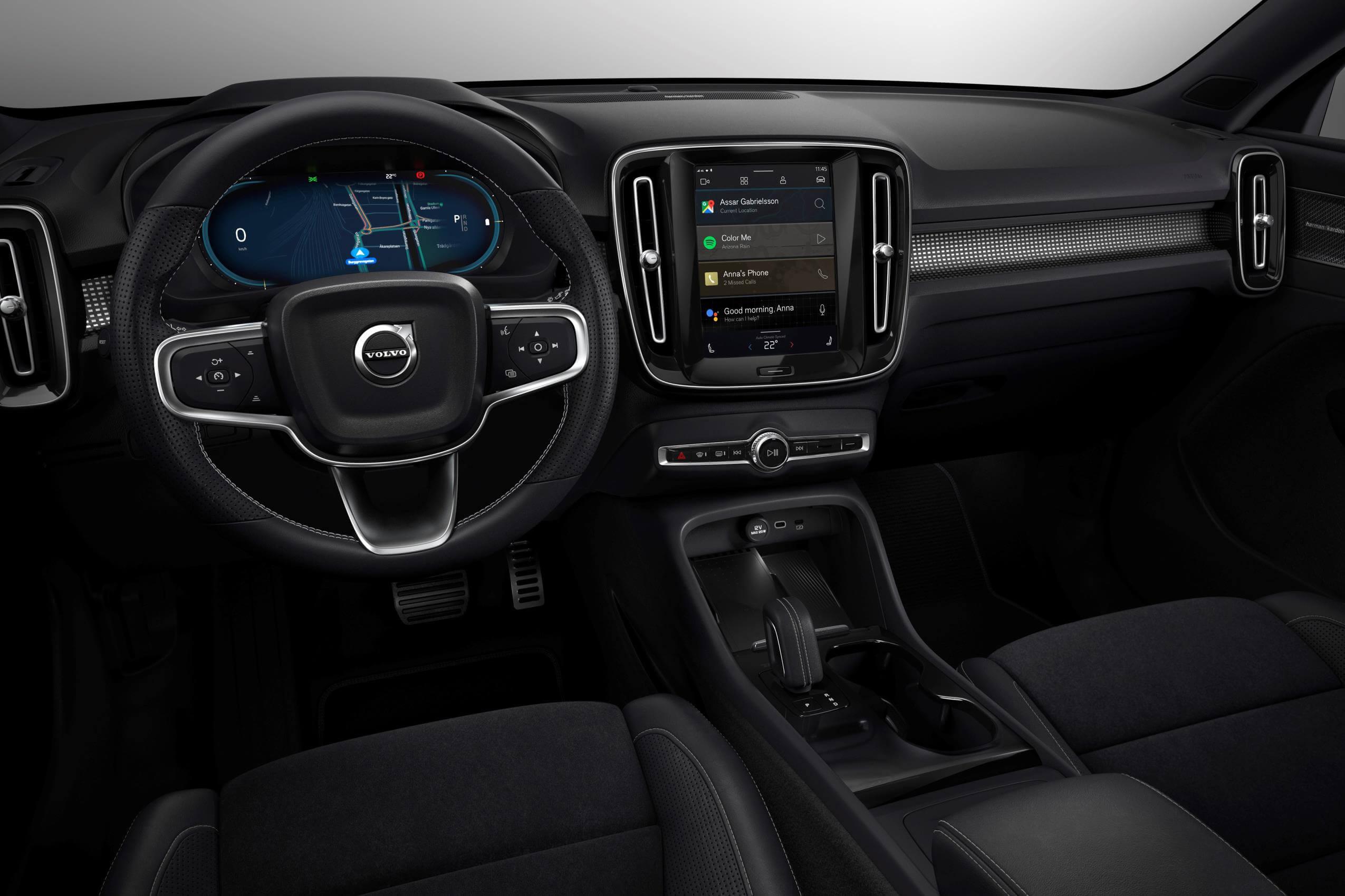 Interior del Volvo XC40 recharge