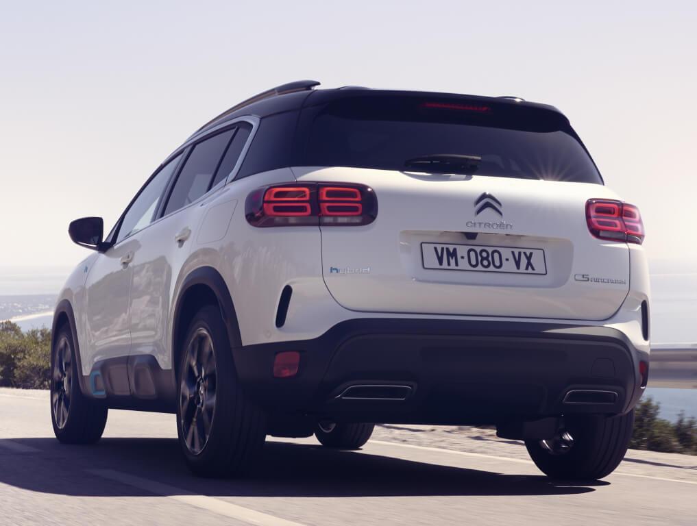 Citroën C5 Aircross Hybrid en marcha.
