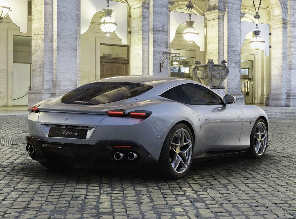 Trasera del Ferrari Roma
