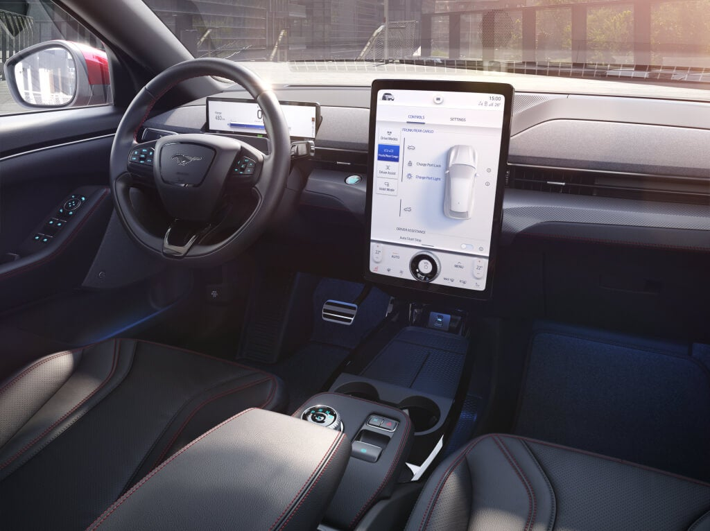 Ford Mustang Mach-E: interior.