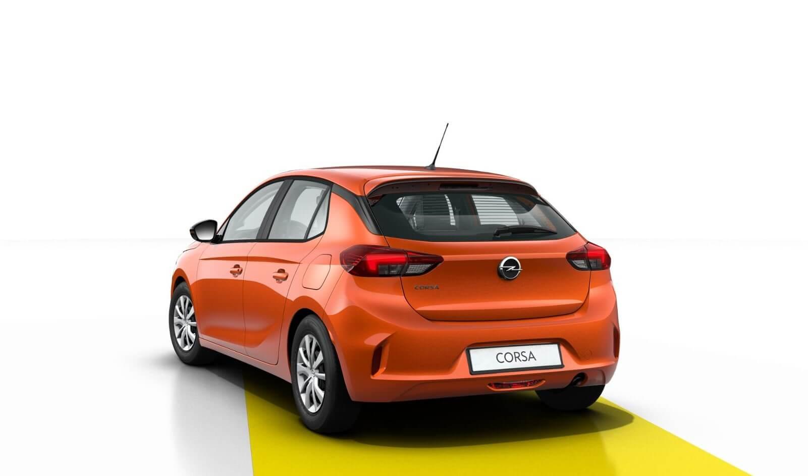 Opel Corsa Edition: trasera.
