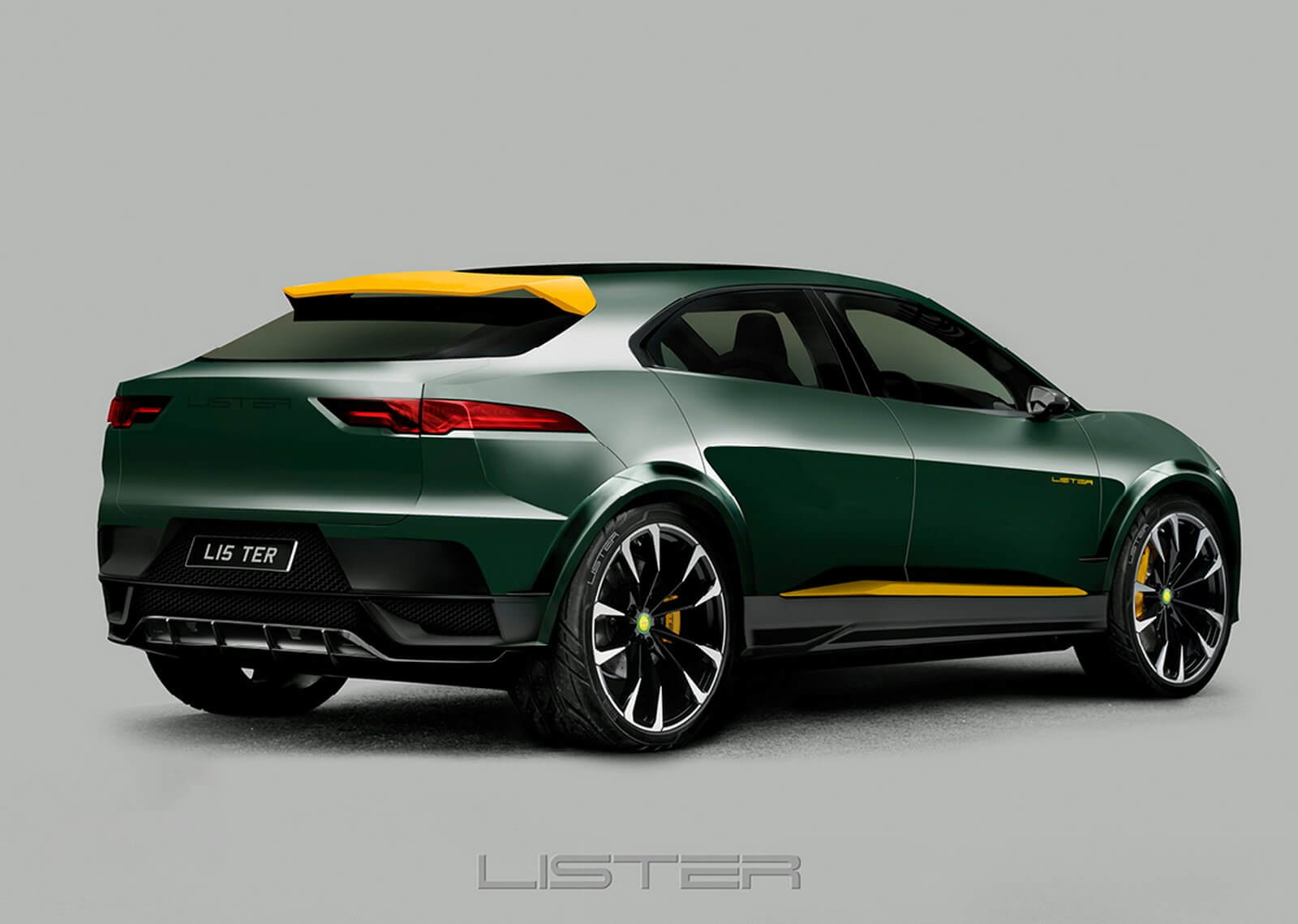 Jaguar I-Pace Lister: trasera.