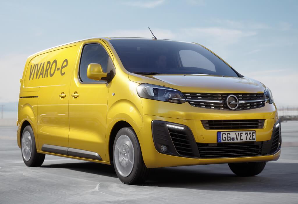 Opel Vivaro-e en marcha.