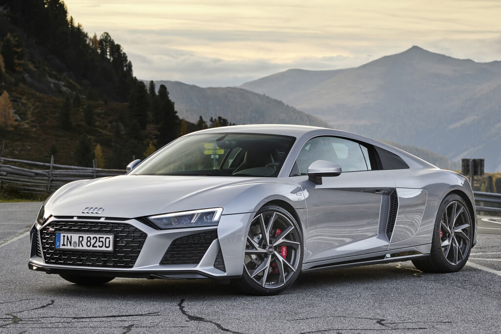 Delantera del Audi R8 RWD.