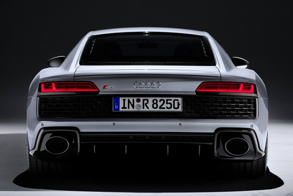 Audi R8 RWD, trasera.