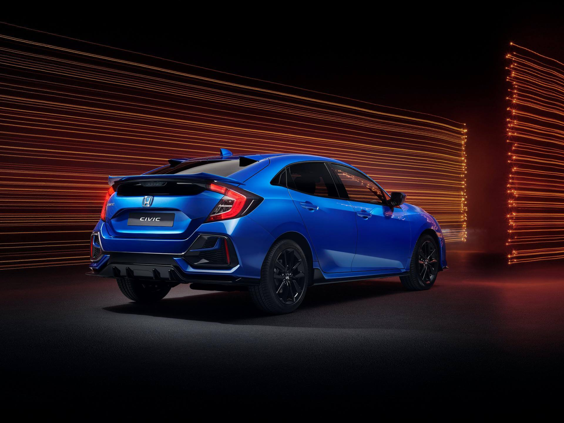 Honda Civic Sport Line 2020: trasera.