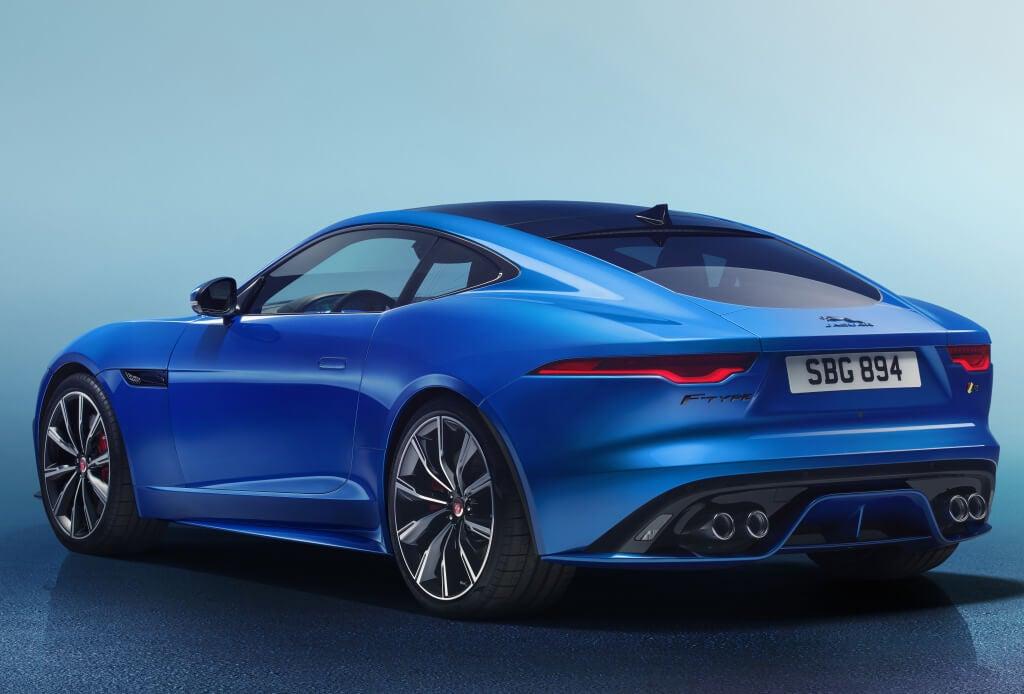 Trasera del Jaguar F-Type 2020.