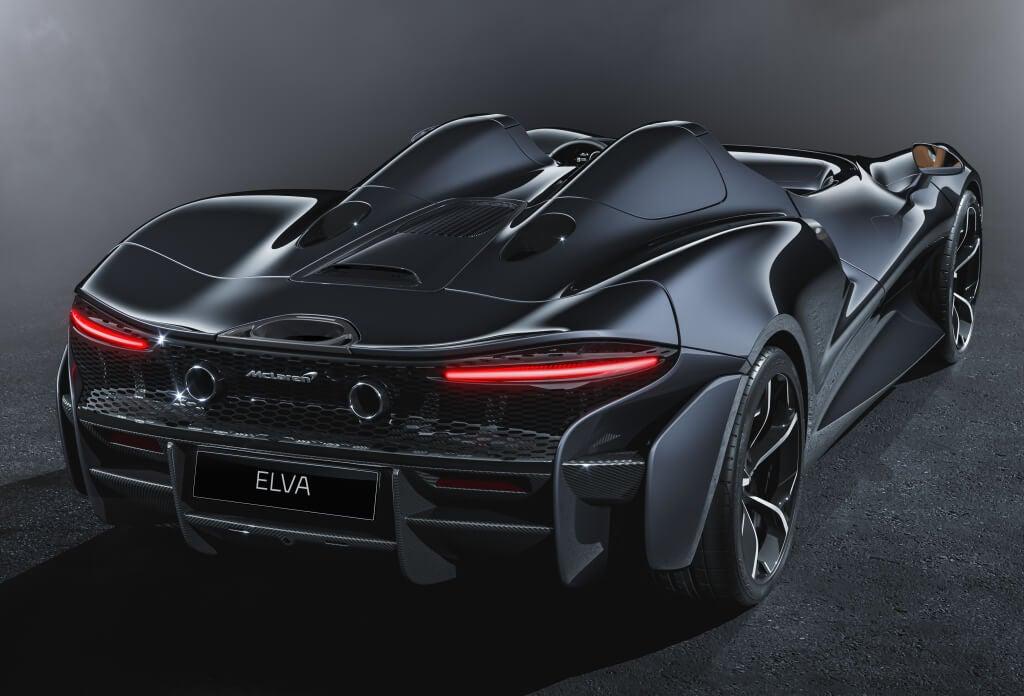 McLaren Elva: trasera.