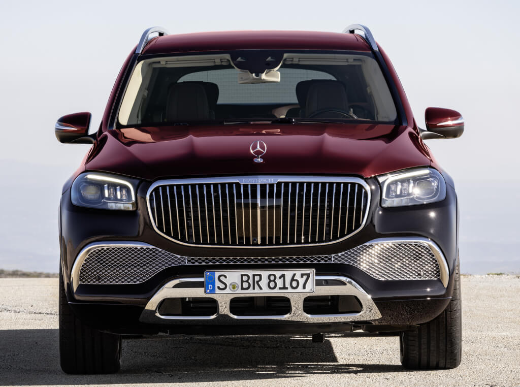 Mercedes-Maybach GLS 600, parte frontal.