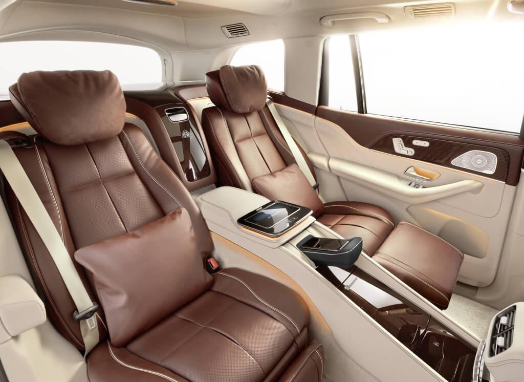 Mercedes-Maybach GLS 600, plazas traseras.