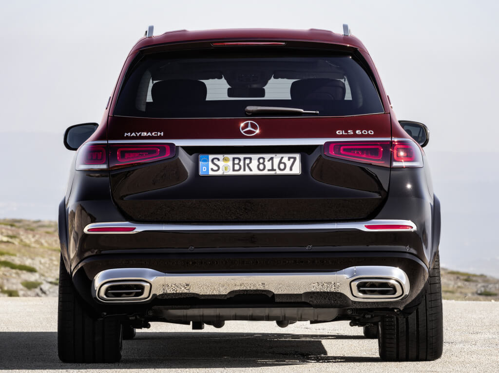 Mercedes-Maybach GLS 600, parte trasera.