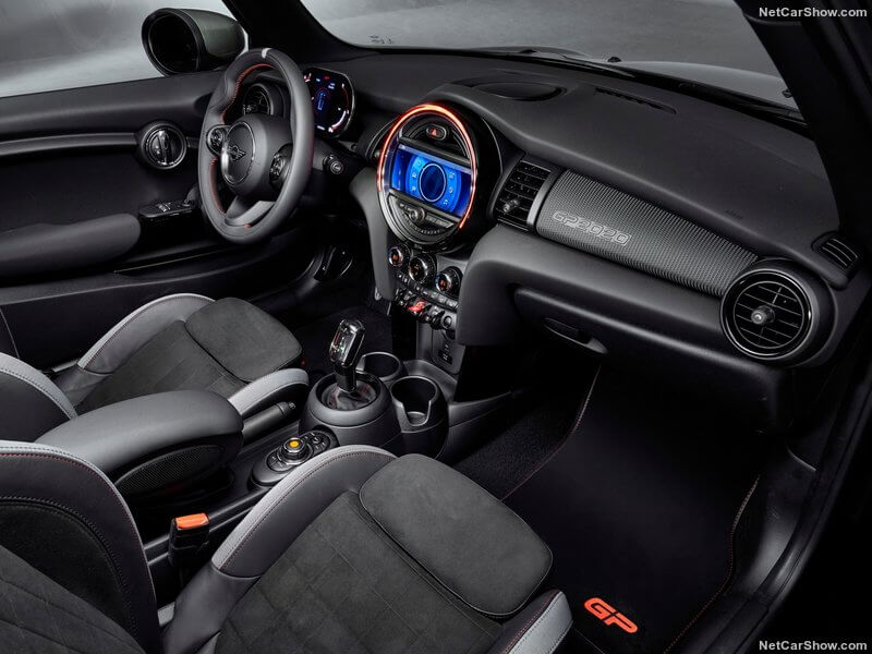 Interior del MINI Cooper JCW GP.