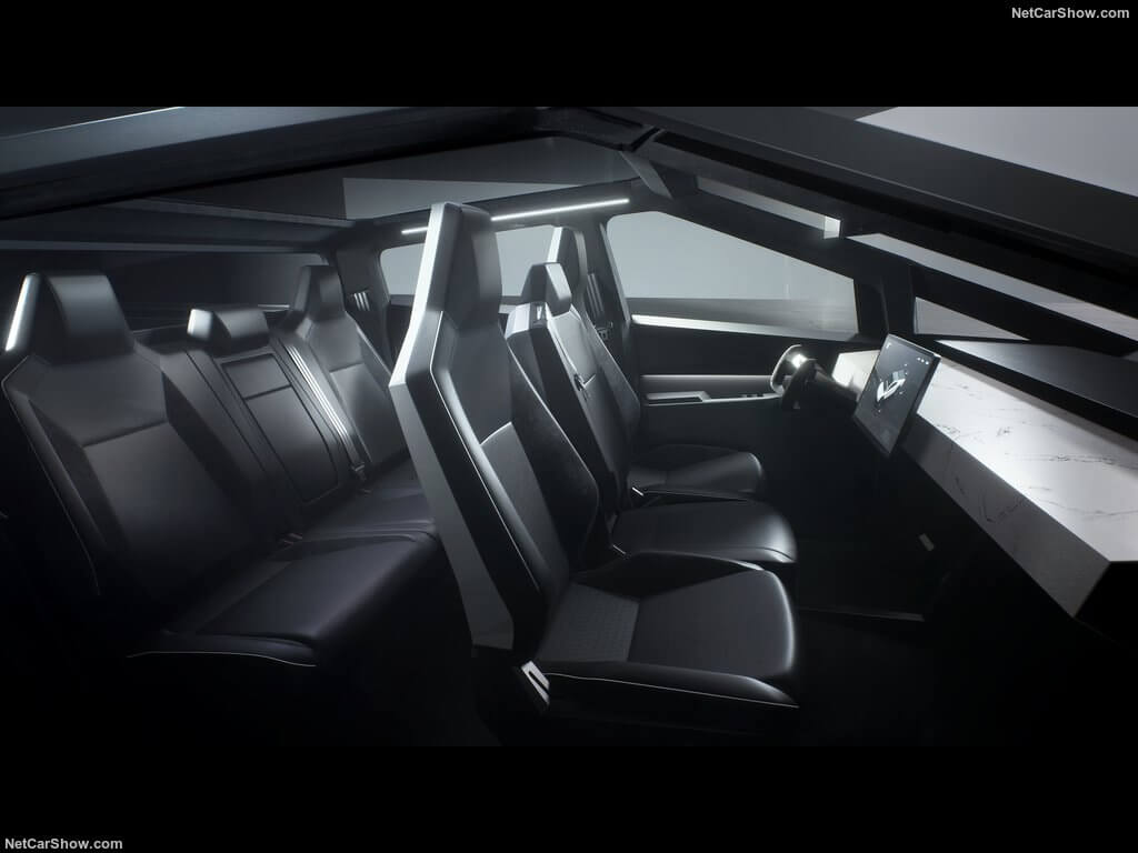Tesla Cybertruck, interior.
