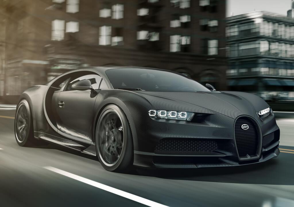 Bugatti Chiron Noire, diseño frontal.
