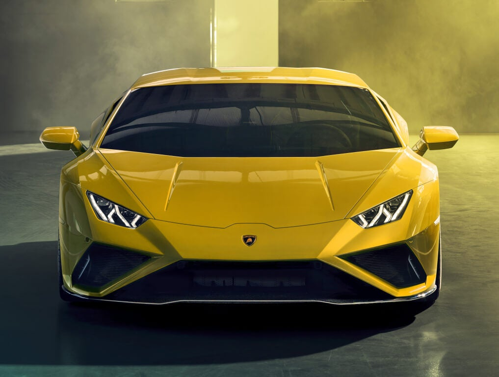 Lamborghini Huracan Evo RWD, frontal.