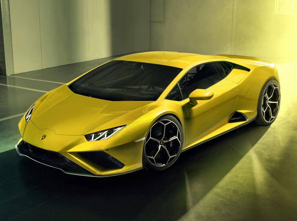 Diseño del Lamborghini Huracan Evo RWD.