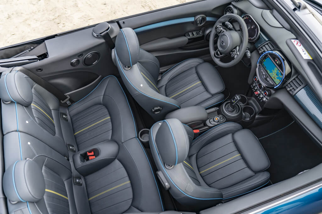 MINI Cooper S Cabrio Sidewalk: interior.