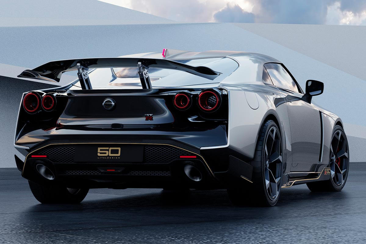 Nissan GT-R50 2020, alerón.