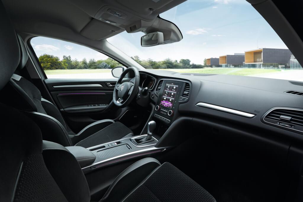 Interior del Renault Megane.