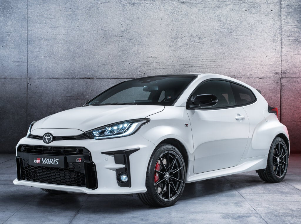 Toyota GR Yaris: frontal.
