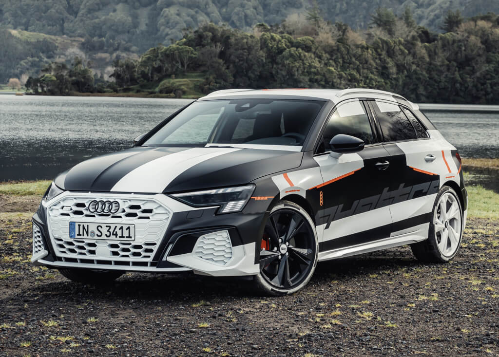 Audi A3 2020 Prototype: frontal.