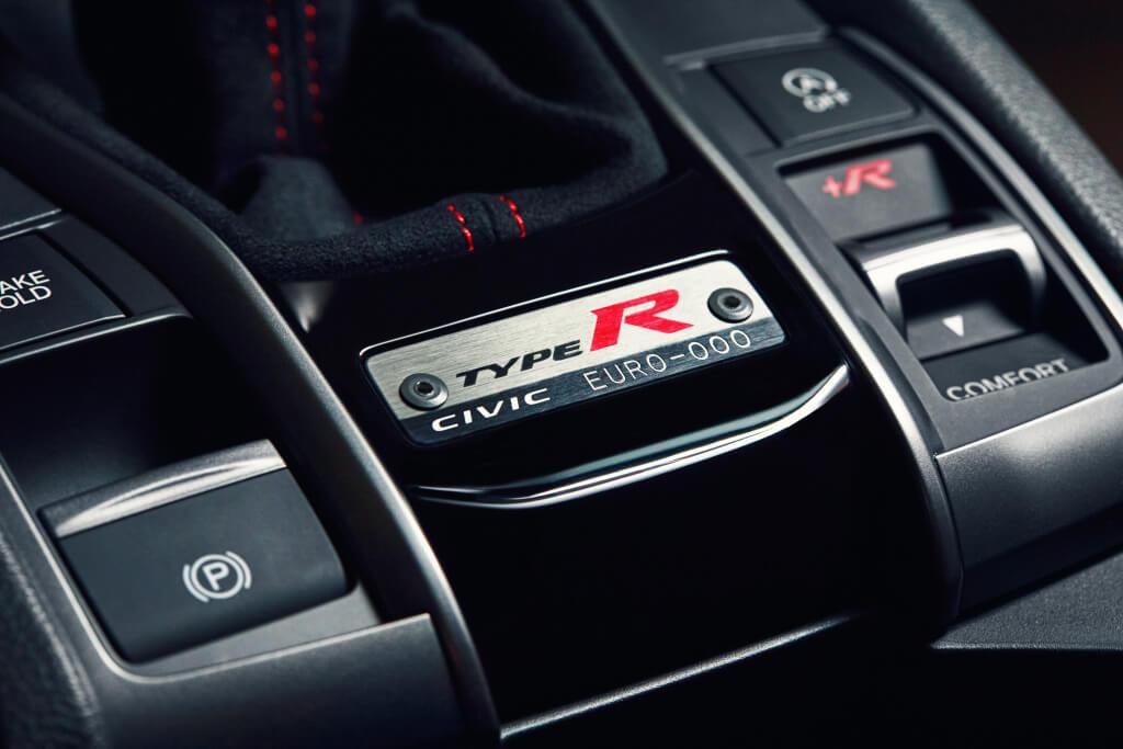 Honda Civic Type-R Limited Edition: placa identificativa.