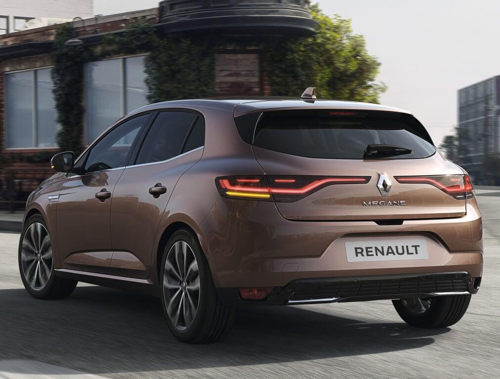 Renault Megane 2020: trasera.