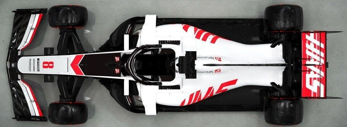Haas VF-20: vista superior.