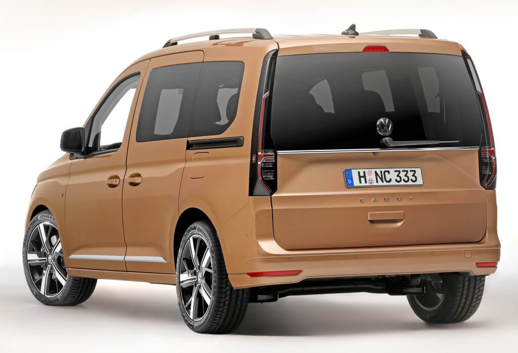 Trasera del Volkswagen Caddy 2020.