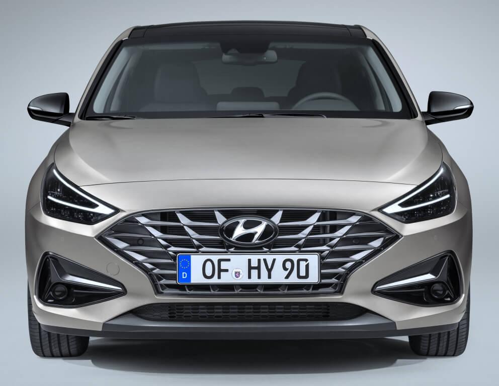 Frontal del Hyundai i30 2020.