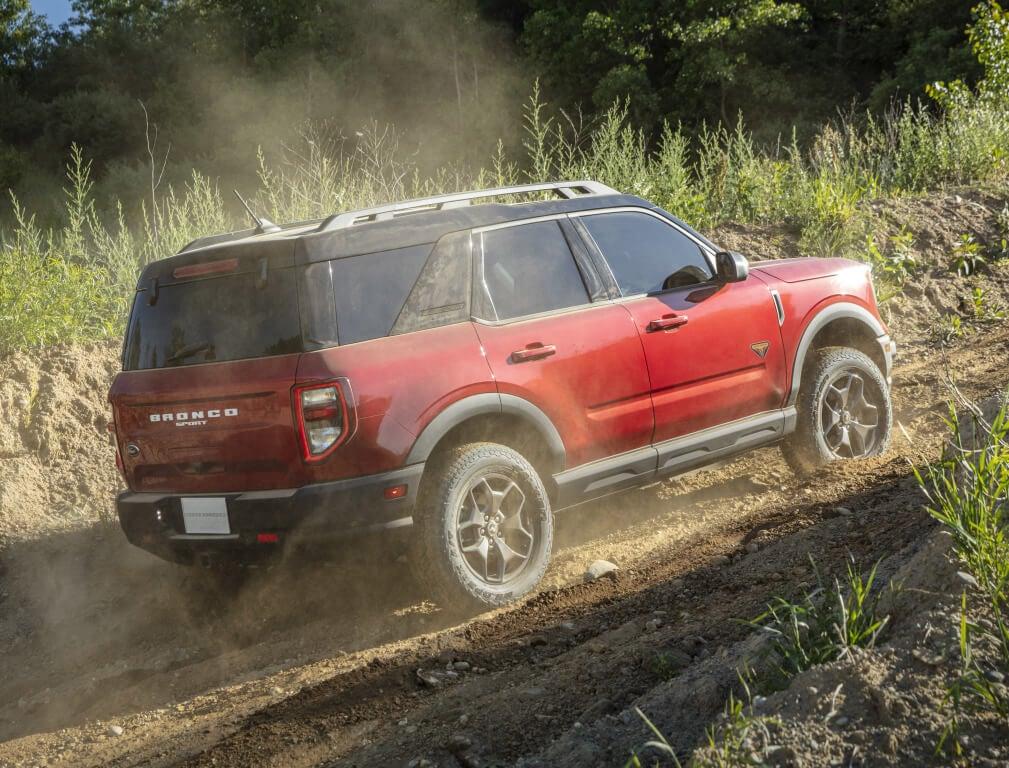 Ford Bronco Sport, trasera.