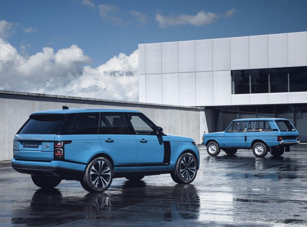 Range Rover Fifty: trasera.