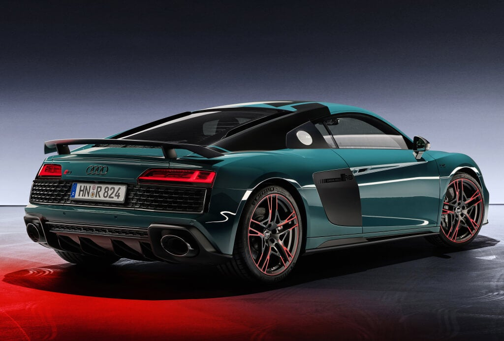 Audi R8 Green Hell Edition: trasera.