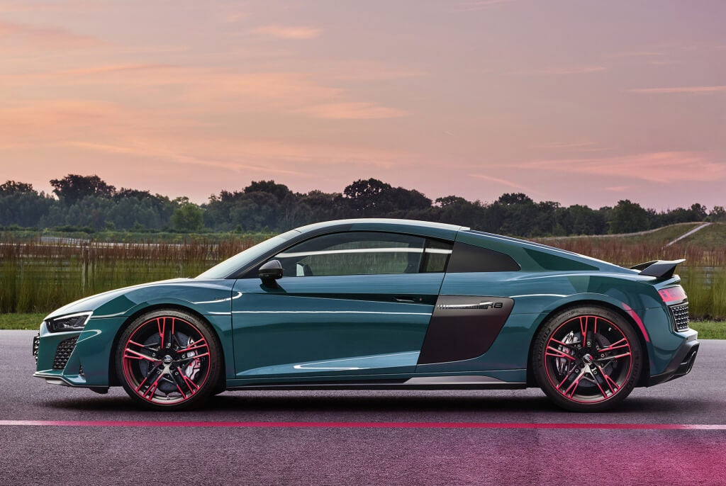 Audi R8 Green Hell Edition: perfil.