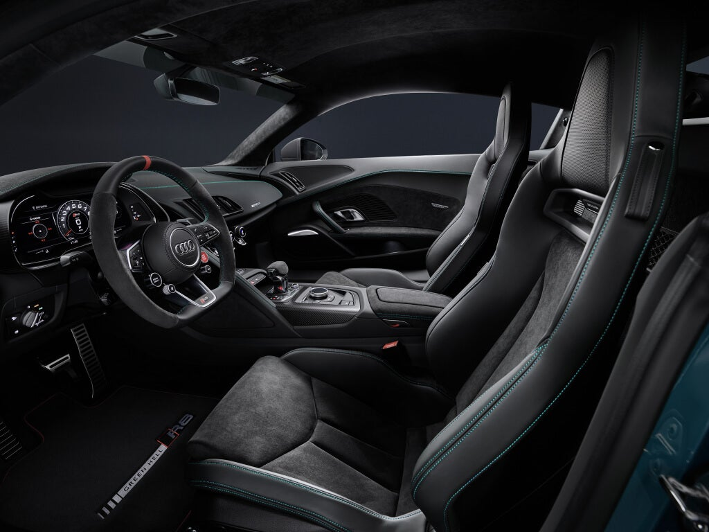 Audi R8 Green Hell Edition: interior.